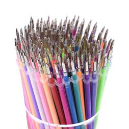 130 Colors Gel Pen Refills - Glitter Metallic Pastel Fluores