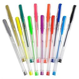 12 Pack Gel Pen Set In 12 Unique Colors – Non-toxic And Ac