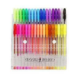 ColorGrand Gel Pen Set for Adult Coloring Books - 36 Gel Pen