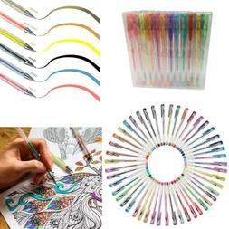 Gel Pens 100 Set Colored Glitter For Coloring Books Drawing