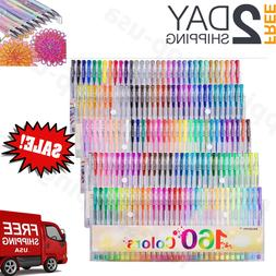 Gel Pens 160 Colors Set Glitter Metallic Neon Colors for Adu