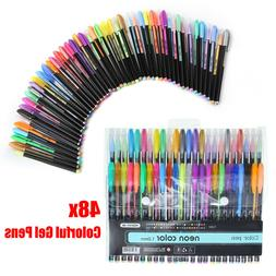 gel pens 48 set colored glitter