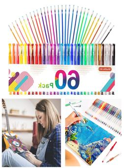 Gel Pens, 60 Pack Gel Pen Set 30 Colored Gel Pen with 30 Ref