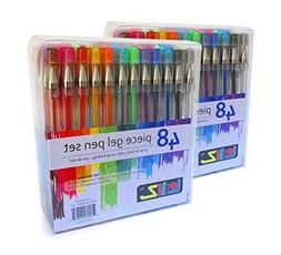 LolliZ 96 Gel Pen Premium Set - 2 Pack of 48 each .