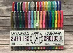 Art Planet Gel Pens Set of 36 Colors - Solid, Neon, Glitter,