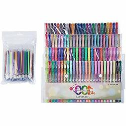 Reaeon 200 Color Gel Pens Coloring Set Art 60 Colored Gel Pe
