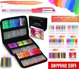 Gel Pens for Adult Coloring Books, 122 Pack Artist Colored G