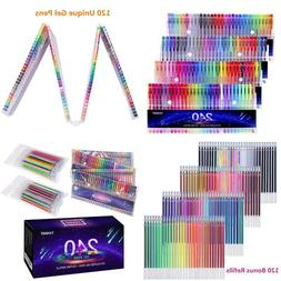 Gel Pens For Adult Coloring Books Art Set Of 240 Pieces With