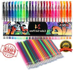gel pens glitter coloring set 36 colors