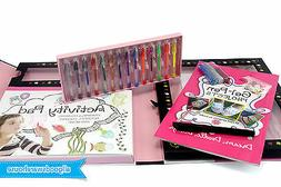 gel pens kit paper glitter glue art