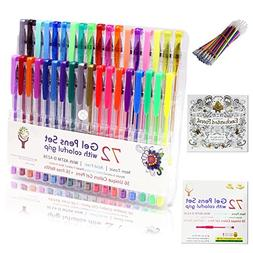 Bieco Adult Coloring Set with 36 Gel Pens and Adult Coloring