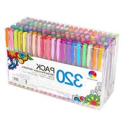 320 Pack Gel Pens Set, 160 Colors With Refills For Adult Col