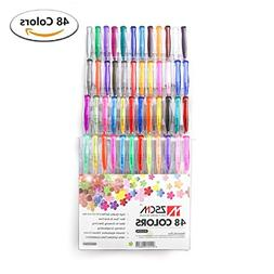 ZSCM 48 Color Art Gel Pens XL Set for Adult Coloring Scrapbo