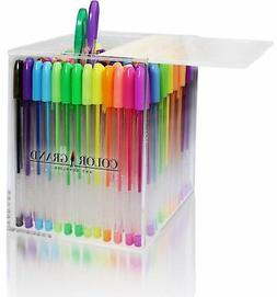 Gel Pens Set for Adult Coloring Books - 100 Glitter Colored