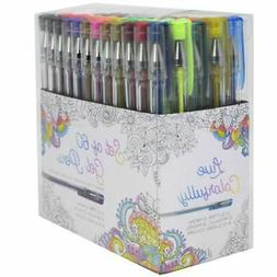 Gel Pens Set of 60 - Metallic, Pastel, Neon, Classic and Gli