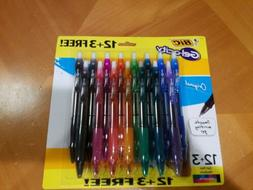 BIC Gelocity 15 Count Assorted Gel Pen 0.7mm Medium Point Re