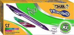 BIC Gelocity Quick Dry Retractable Gel Pen Medium Point 0.7m