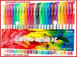 Glitter Colored Gel Pens For Coloring Books Kids Crafting Dr