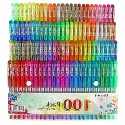 100 Colors Glitter Gel Pen Set
