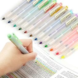 Glitter Gel Pen Set-Metallic Pastel Highlighter Marker Pen F