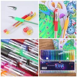 Tanmit Glitter Gel Pens for adult coloring books 80 Pens Set