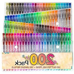 Glitter Gel Pens Refills Set For Coloring Books Adult Drawin