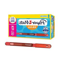 Paper Mate InkJoy Gel Pens Fine Point  Capped, 12 Count, Red