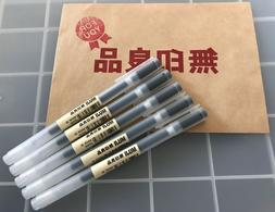 MUJI MoMA  0.38mm Non-Toxic Gel Ink BLACK 5 Pens F/S from Os