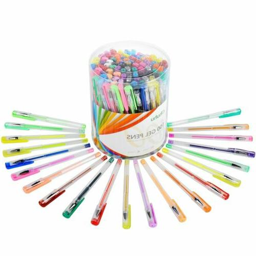 100 Coloring Neon Art Marker for Drawing