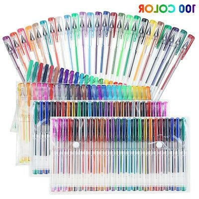 100set gel pens colored glitter for coloring