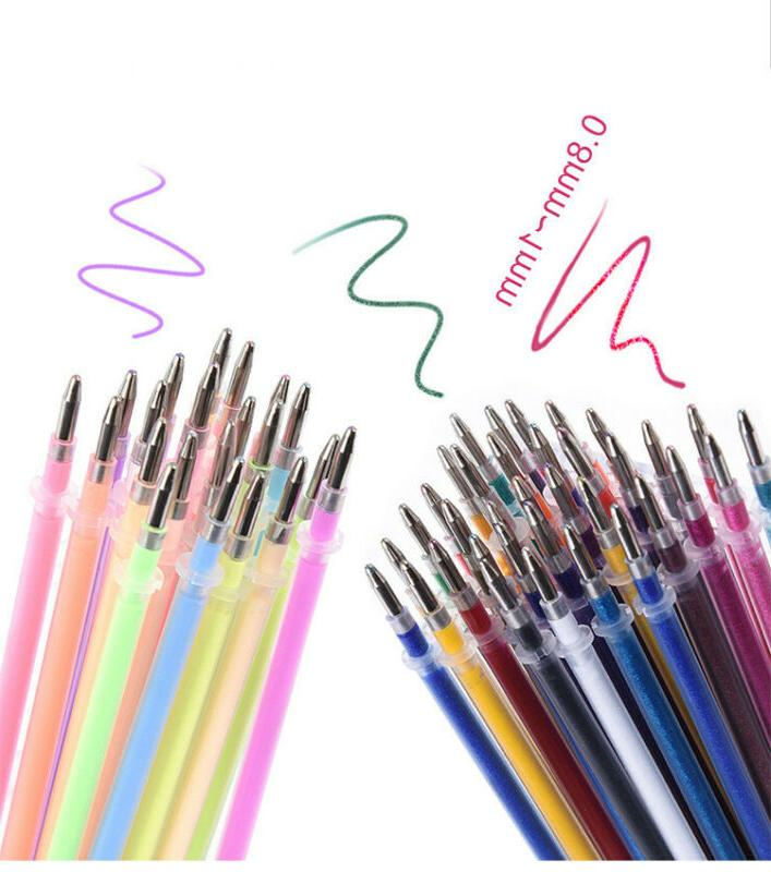 24-60 Color Refill Art Drawing Glitter pen Set USA