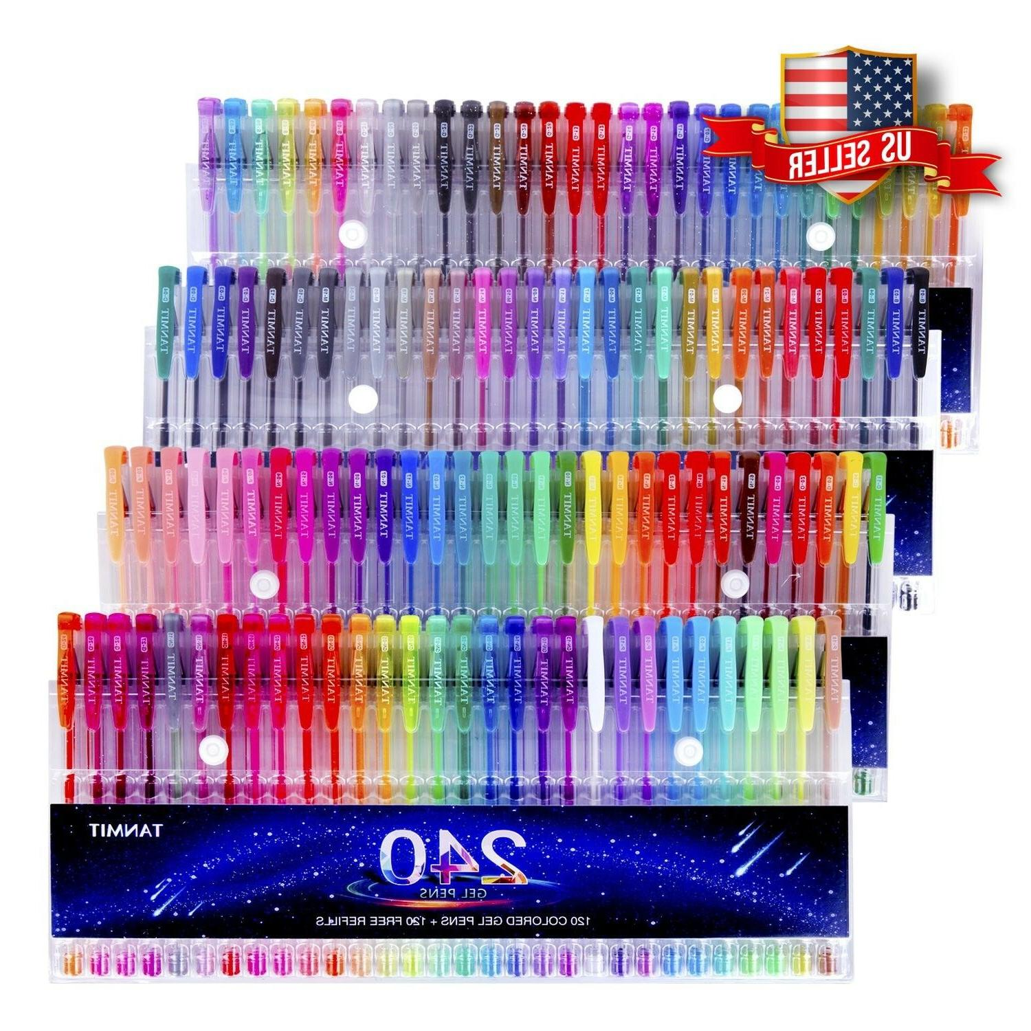 Tanmit 240 Pens Coloring Books, Writing, Drawing