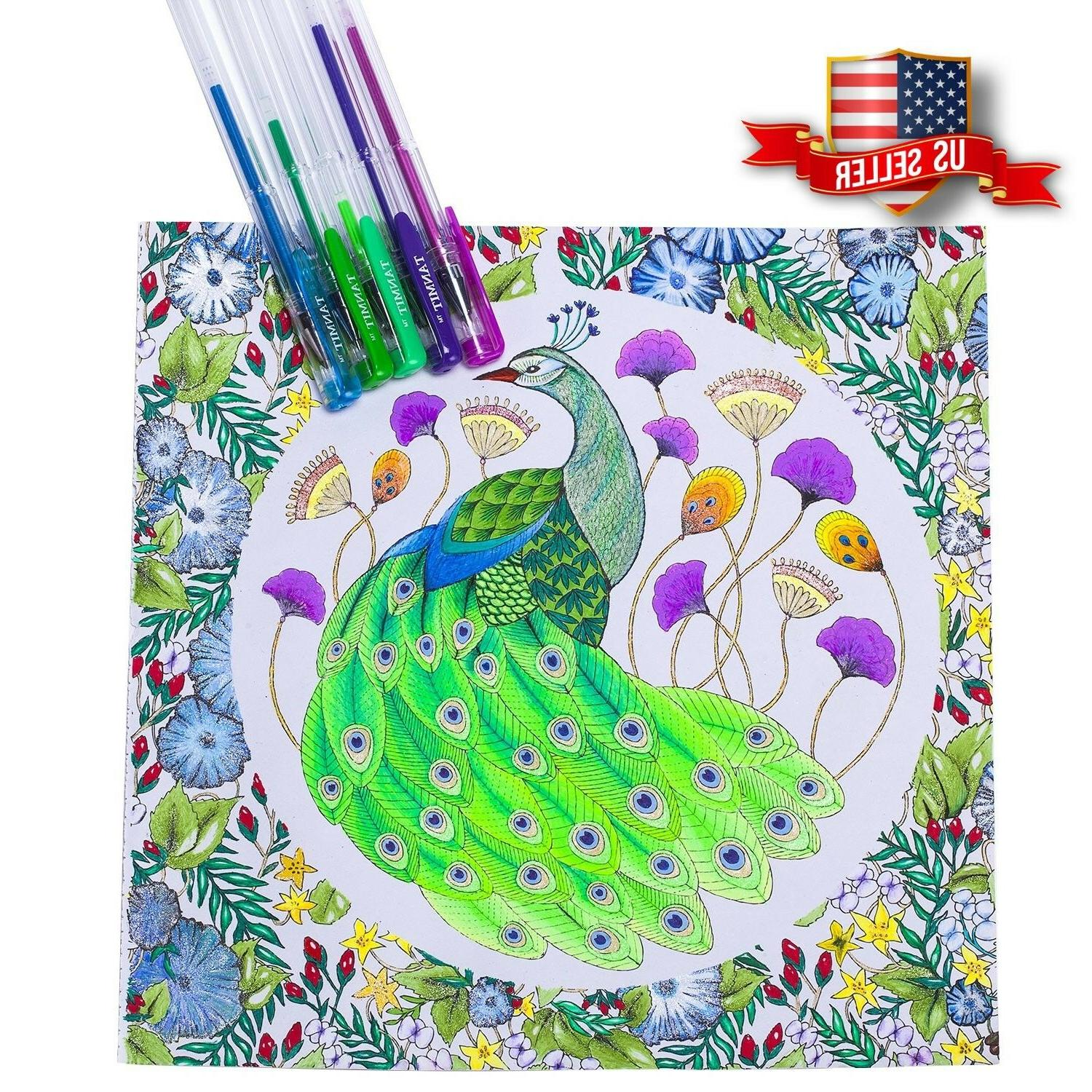 Tanmit 240 Color Gel Pens Set for Adult Coloring Drawing