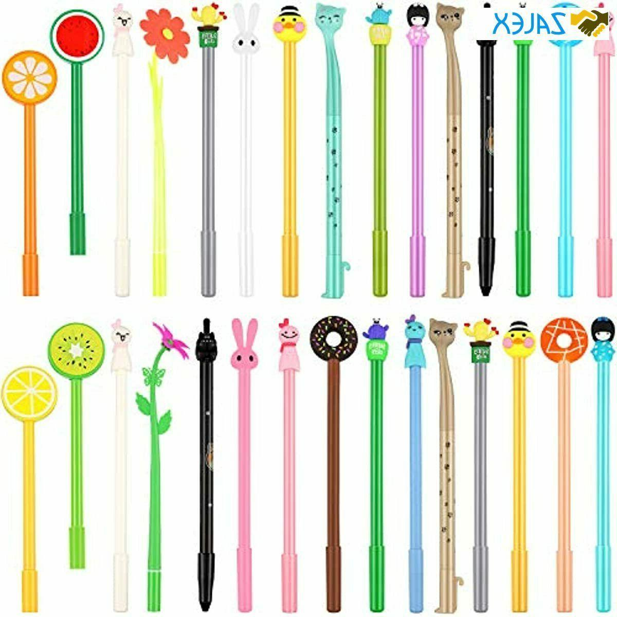 30 Pieces Cute Gel Ink Pens Assorted Style Writing Pens