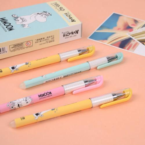 3pcs erasable gel ink pen kawaii moomin