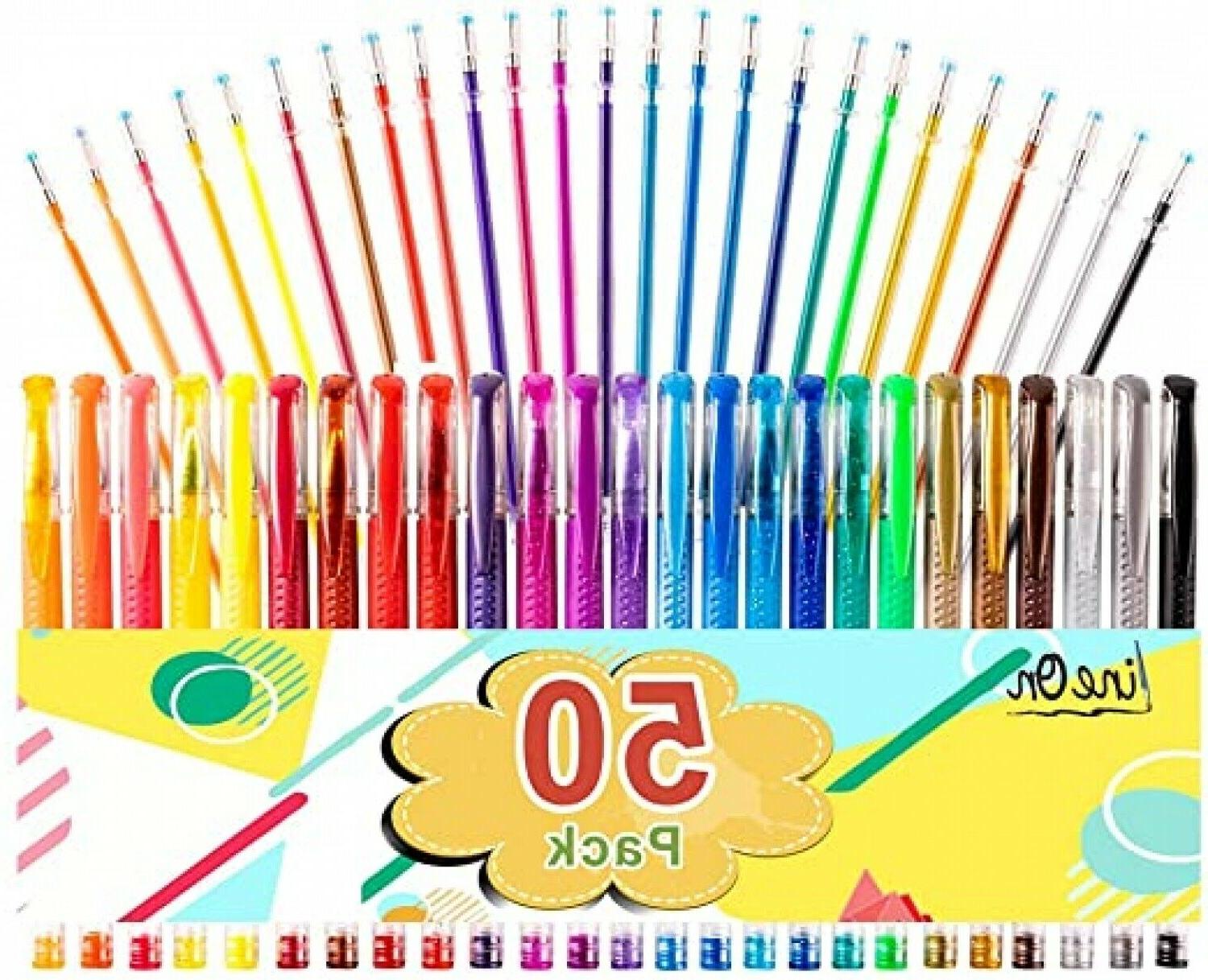 50 Colored Pens Kids Crafting Drawing Adult Gift