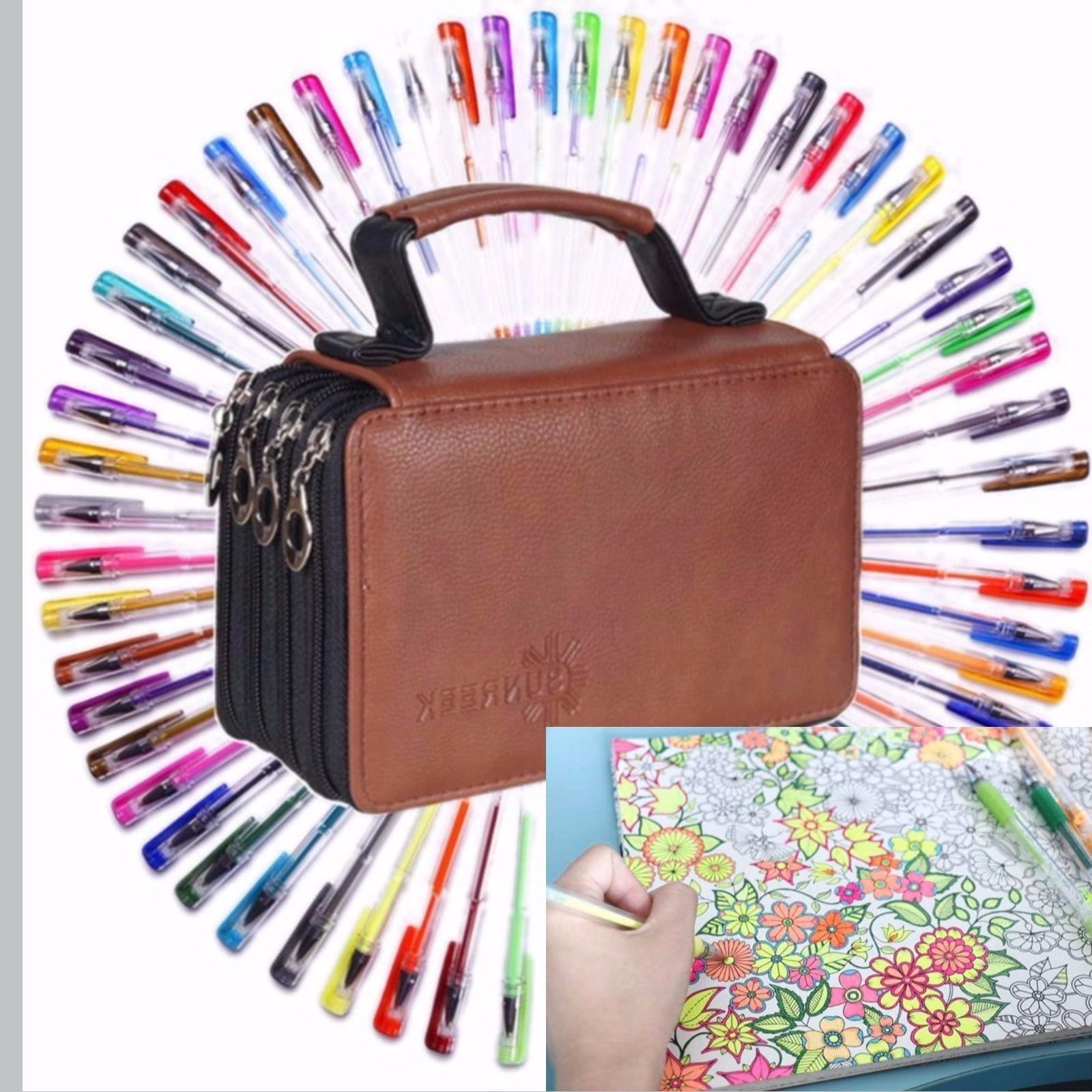 60 Gel Pens MultiColor Pen Set for Adult Coloring Book with