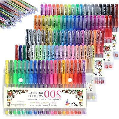 Art Markers Gel Pens for Adult Coloring Books Glitter Drawin
