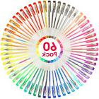 Gel Pens Set 60 Colors Coloring Pens for Kids Adult Coloring