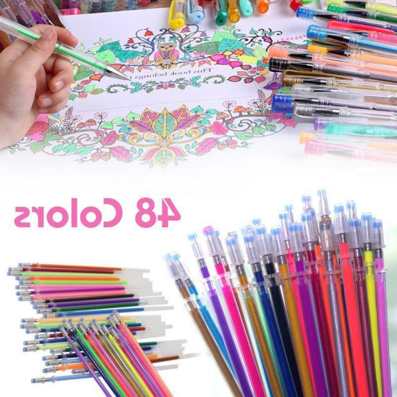 New Gel Pens Refills Coloring Drawing Painting Craft Markers