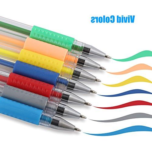 Tanmit Gel Pens Set Colored Pen Point Art Marker 36 Colors For Adult