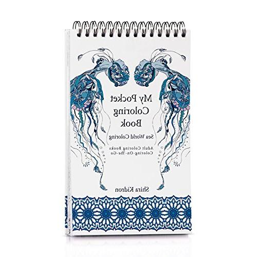 adult coloring books pocket book coloring on the go sea worl