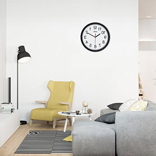 Hippih Clock Silent Non Ticking Easy to Home Office Clock