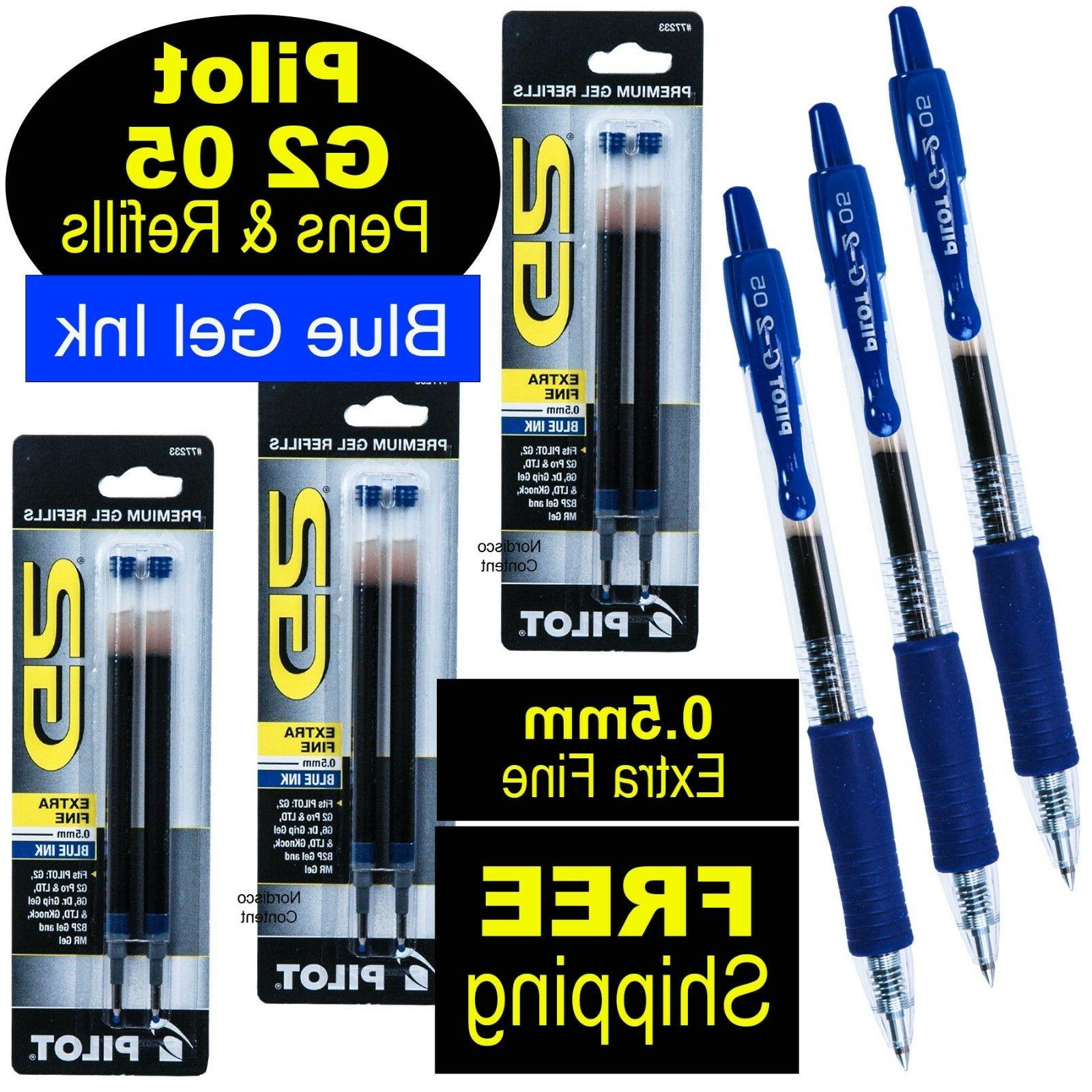 Pilot G2 05 Blue, 0.5mm Extra Fine Point Blue Gel Ink Roller