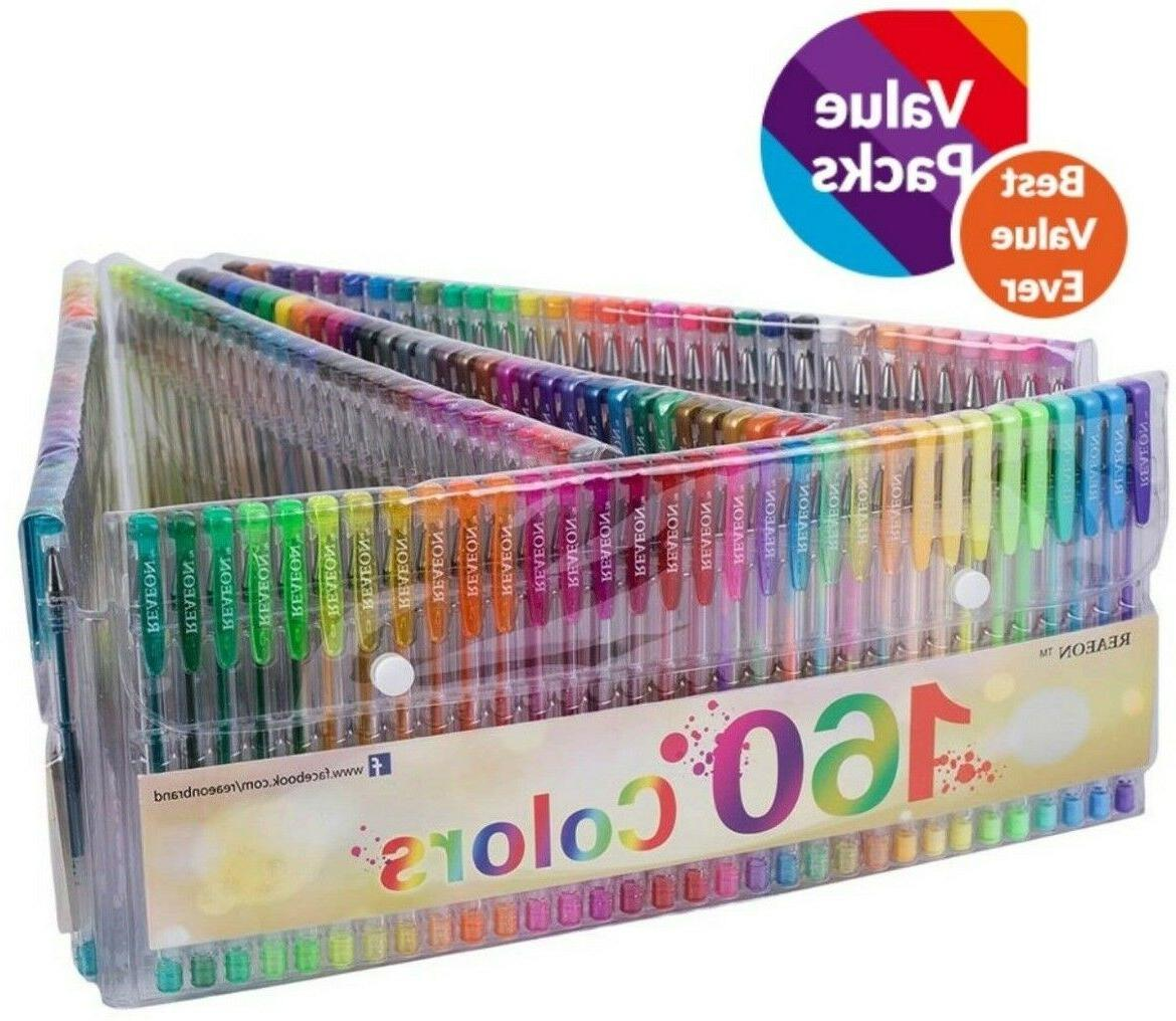 Gel Pens Set Glitter Colors Coloring Books