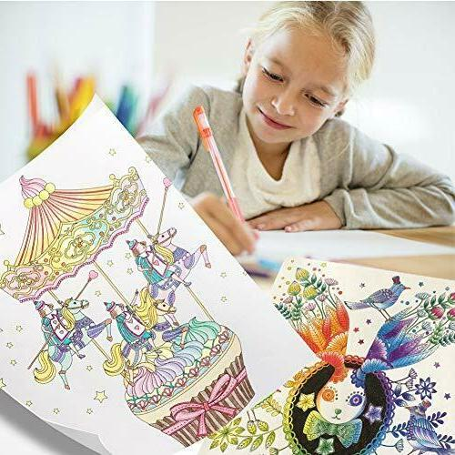 Gel Pens Colored Glitter For Books Drawing Art Marker Kids