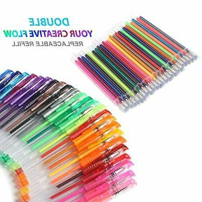 Gel Pens 48 Colored For Coloring Books Art Kids