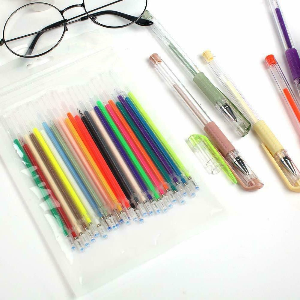 Gel Pens 48 Colored Glitter For Books Drawing Art Marker