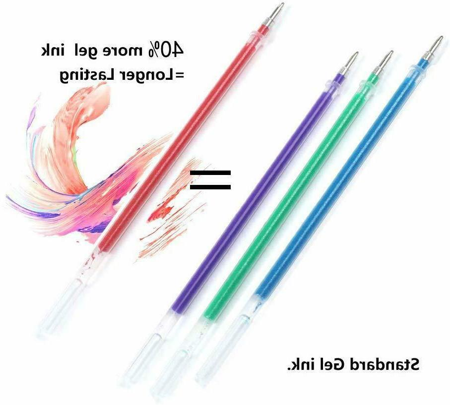 Gel Pens Set Colored Books Drawing Kids Adult