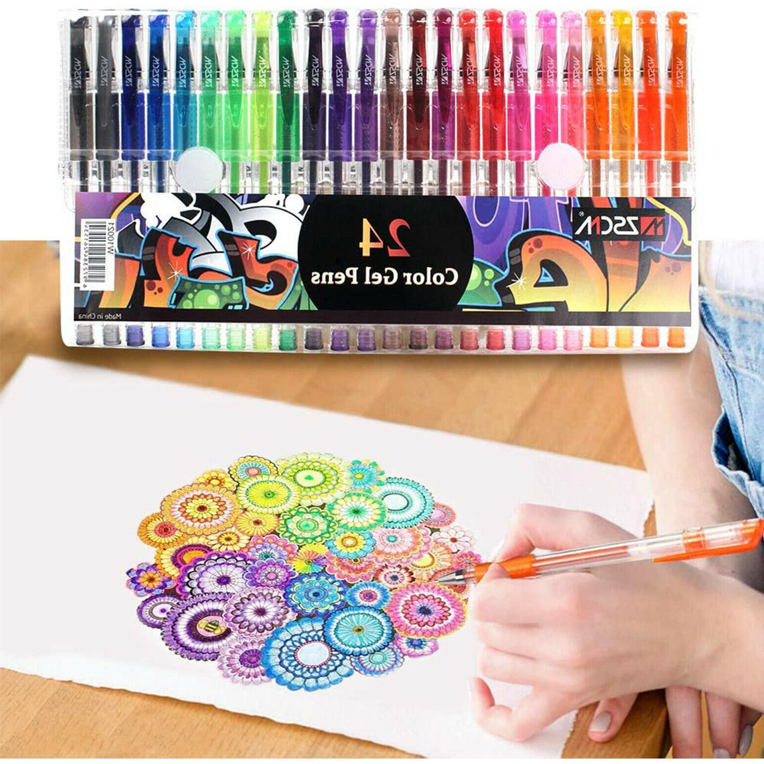 Gel Colored Glitter For Coloring Books Kids Adult